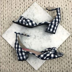Betsey Johnson Gingham Checkered Heeled Sandals